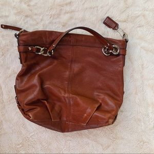 Coach Leather Medium Sized Shoulder Bag Purse
